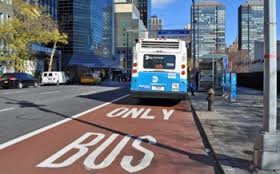 Driving In A NYC Bus Lane Will Now Give You Points